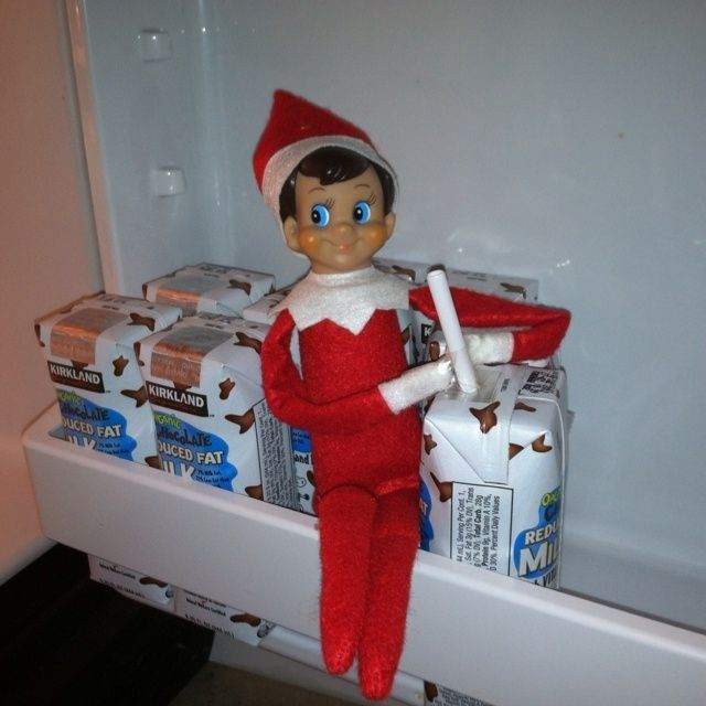 Elf on the shelf - fridge raid! | Elf on the Shelf | Pinterest