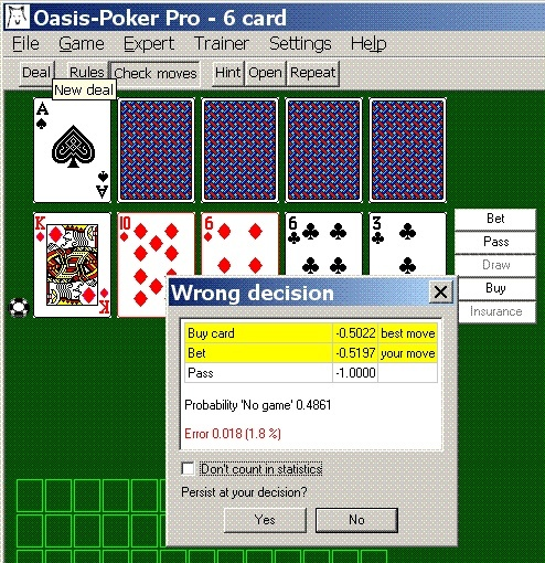 Game simulation mode large number of supported game rules poker