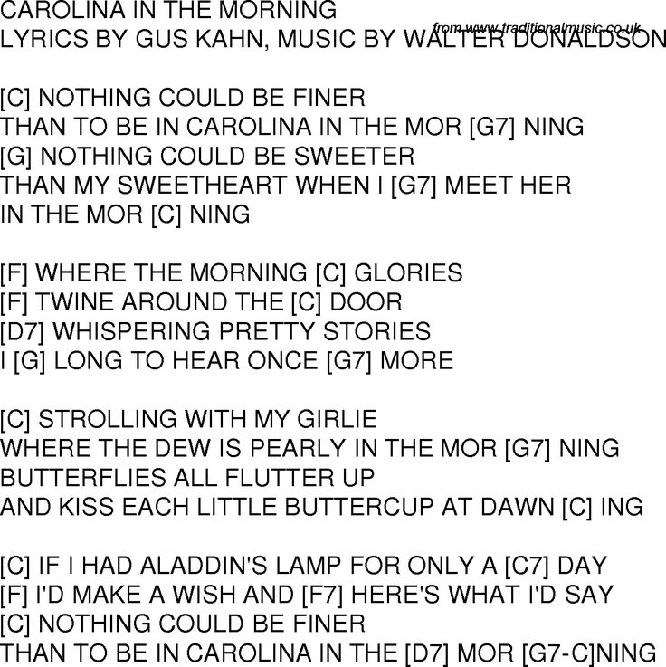 How Beautiful Is The Morning Chords And Lyrics - Happy Beautifully