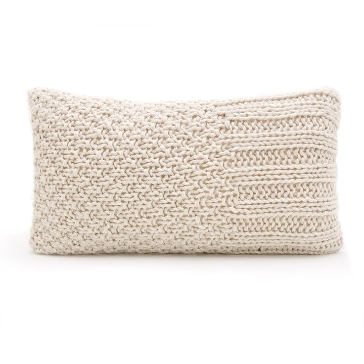 Knitting Pillows : Pillow knit chrocheted things pinterest