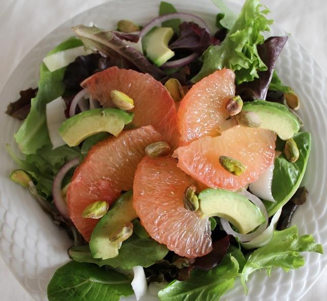 ... Salads {Persimmon Pomegranate Salad and Pink Grapefruit Avocado Salad