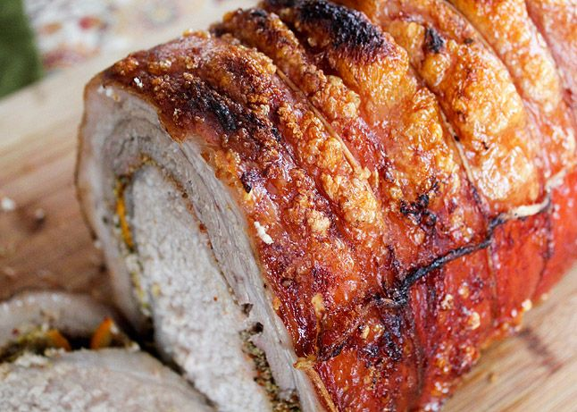 hour all belly porchetta porchetta sandwich with balsamic caramelized ...