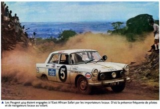 '68 Peugeot 404 Safari Rally