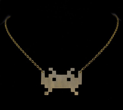 Space Invaders Necklace