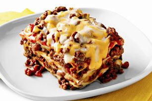 Kraft Mexican-Style Lasagna. The recipe was on the back of a bag of ...