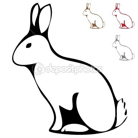 SilhouettesWhite Rabbit Silhouette