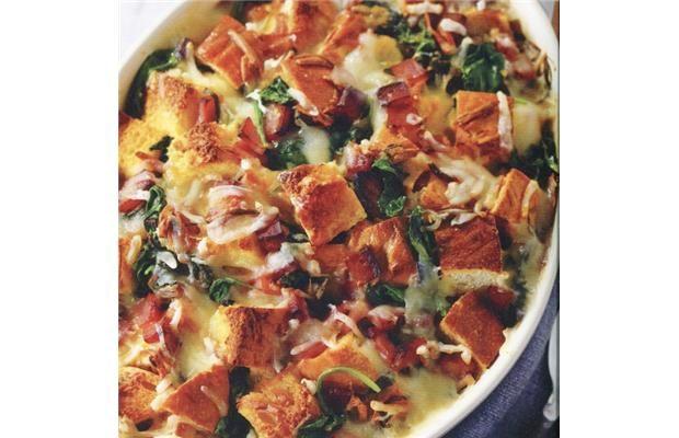 Wine Match: Spinach, Ham and Cheese Strata
