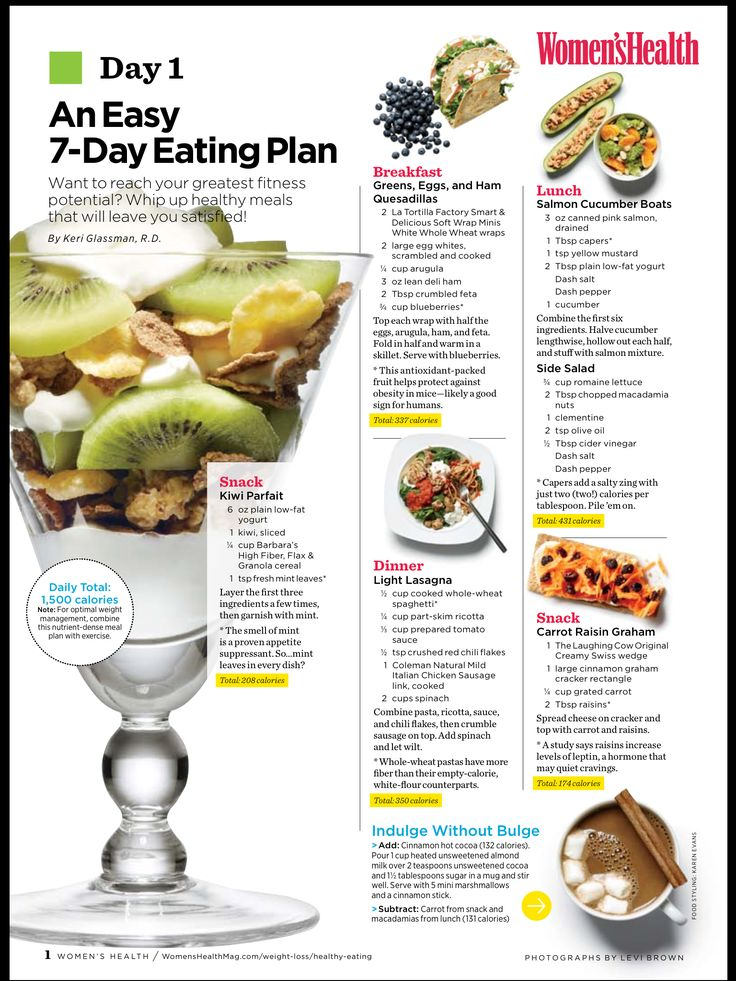 7 day healthy eating plan health   healthy lifestyles