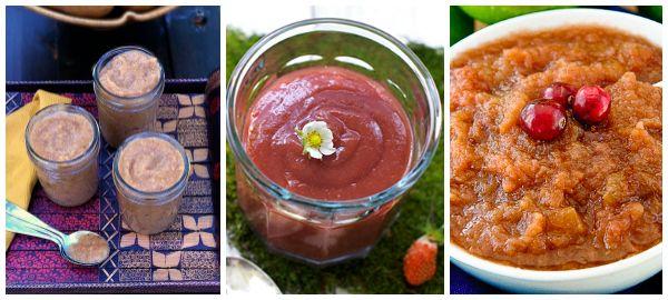 applesauce recipes (ginger pear applesauce, sf strawberry applesauce ...