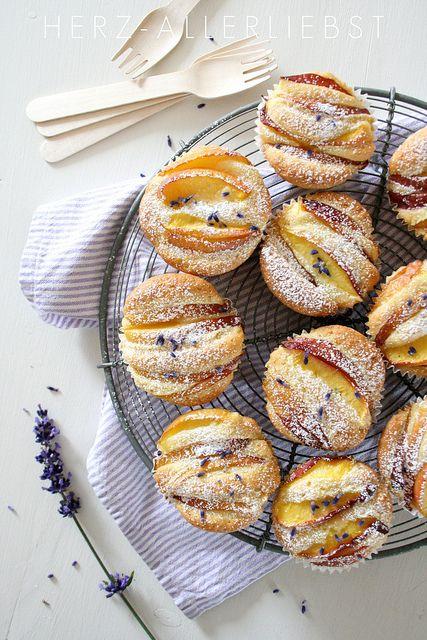 over the shoulder purses lavender nectarine muffins  Dessert