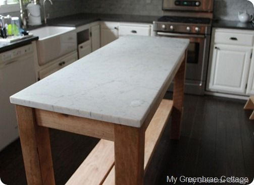 Diy narrow kitchen work table island house ideas pinterest for Narrow kitchen island ideas