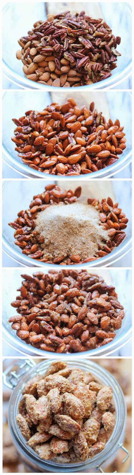 Cinnamon Sugar Candied Nuts | Dips and finger foods | Pinterest