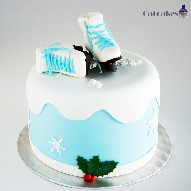 Ice Skate Cake Cakes And Cupcakes Pinterest