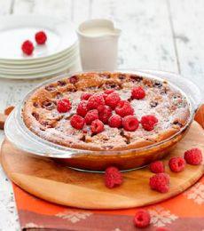 Chocolate Raspberry Clafoutis - Clafoutis are an easy to make French ...