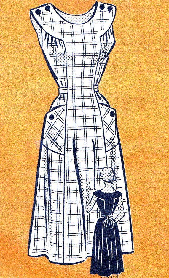 1950s Dress Pattern Anne Adams 4523 Womens Yoked