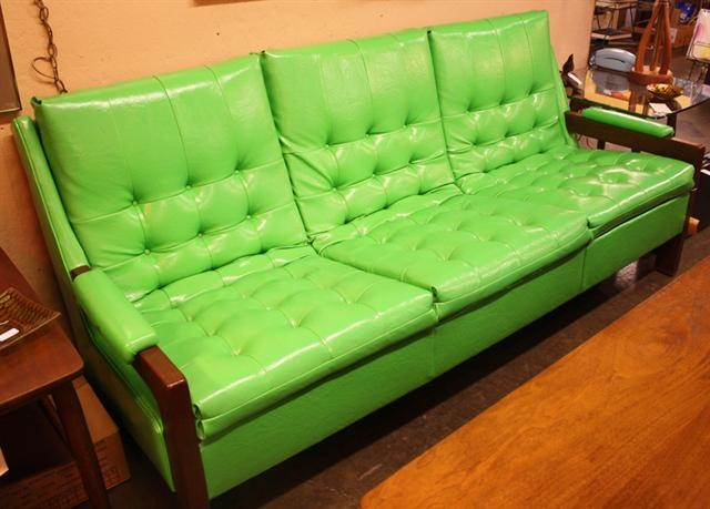 Retro lime green couch midcentury and retro pinterest for Lime green sofa