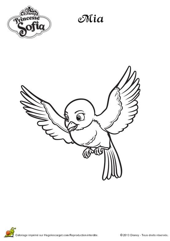 Dibujo de la Princesa Sofía para colorear