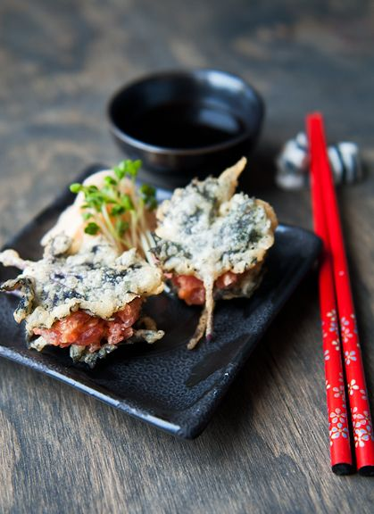 Shiso Spicy Tuna Tempura   Tapas   Pinterest