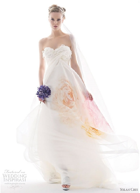 Painted wedding gown some wedding ideas pinterest for Painted on wedding dress