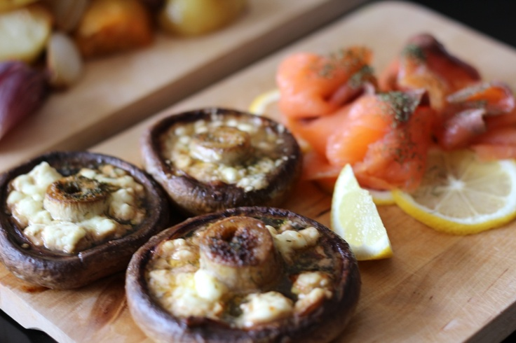 Pan Roasted Stuff Mushrooms | Cooking Lessons: Salty | Pinterest