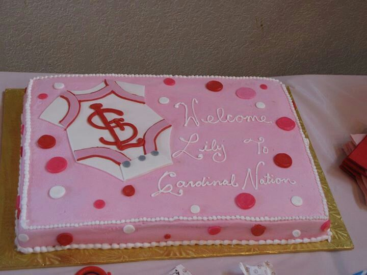 Baby shower St. Louis Cardinals cake!