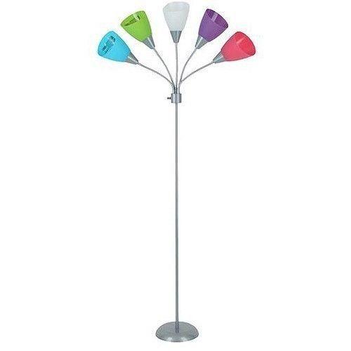 five light floor lamp light or dark bendable kids teen college room d. Black Bedroom Furniture Sets. Home Design Ideas