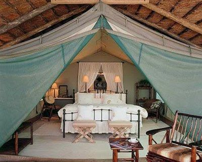 Romantic tent outside space
