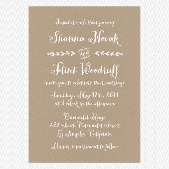 Wedding invitation wording that wont make you barf | Offbeat Bride