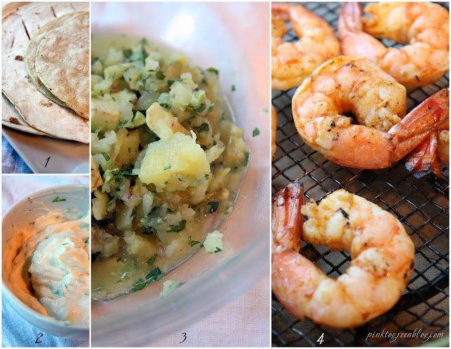 Grilled shrimp and pineapple salsa tacos | Stuff to Cook | Pinterest