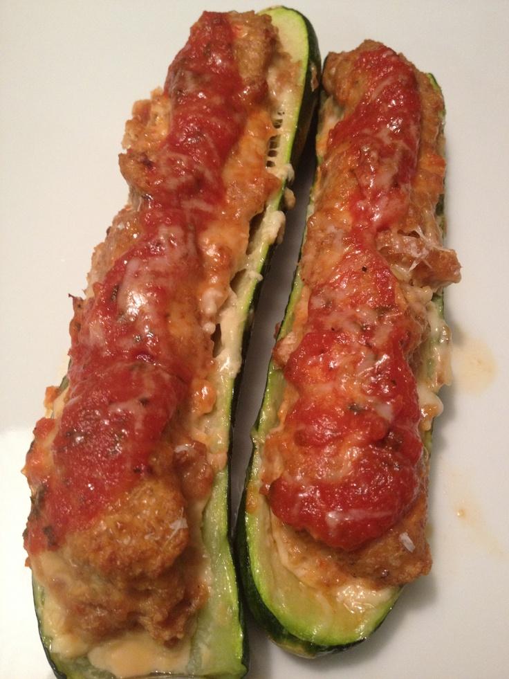 Ground Turkey Stuffed Zucchini | Recipes | Pinterest