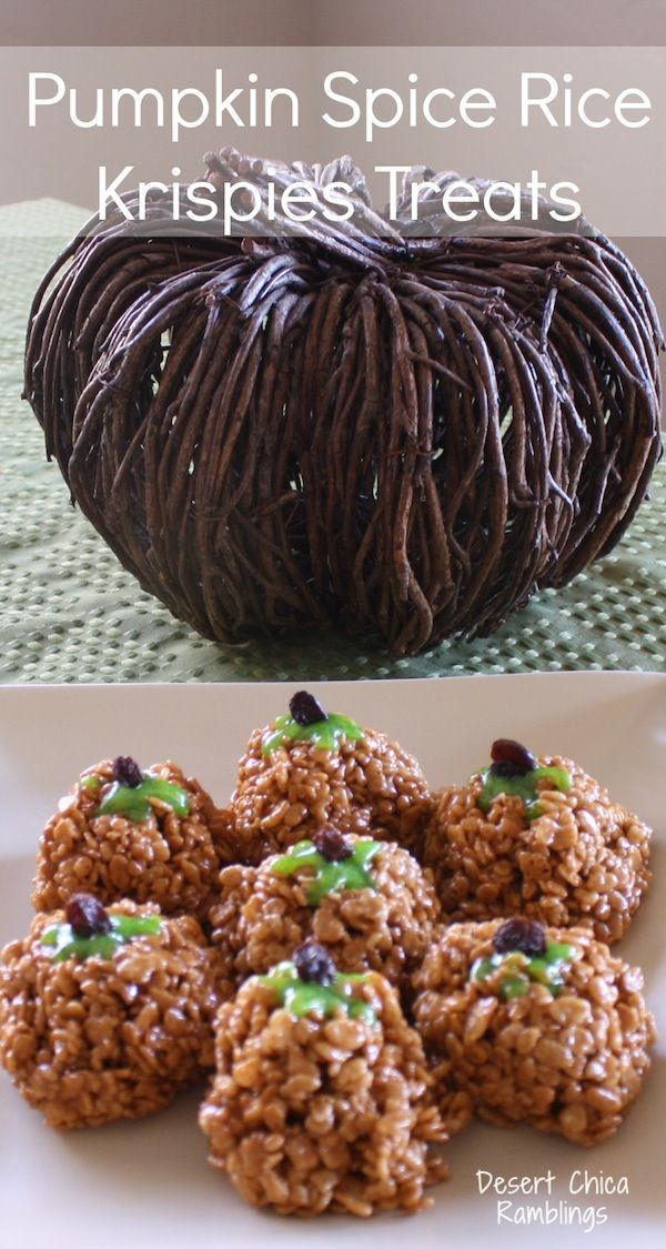 Pumpkin Spice Rice Krispies Treats. | Delicious and Yummy (Group Boar ...