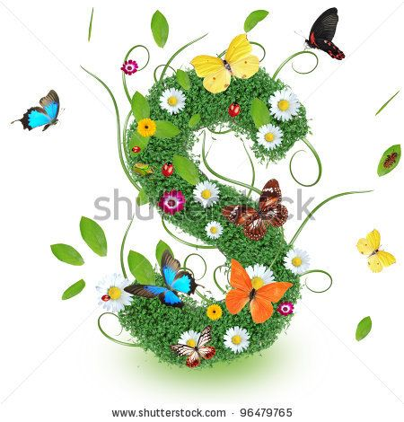 "Beautiful spring letter ""S"" 