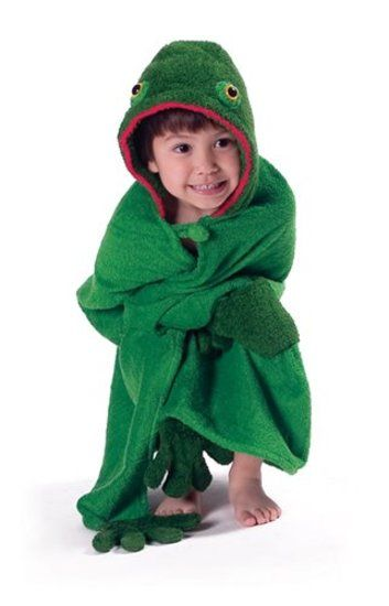 ... or the pool - and our gorgeous frog hooded towel is just the thing