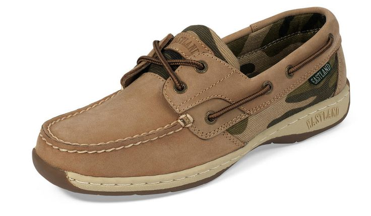 Women's Solstice Boat Shoe Oxford - Tan Camo #eastlandshoe