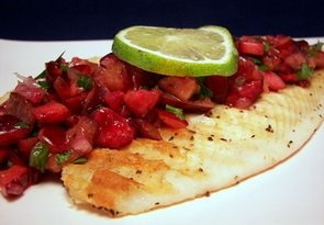 Grilled Tilapia with Cherry Salsa | Summertime and the Living is Easy ...