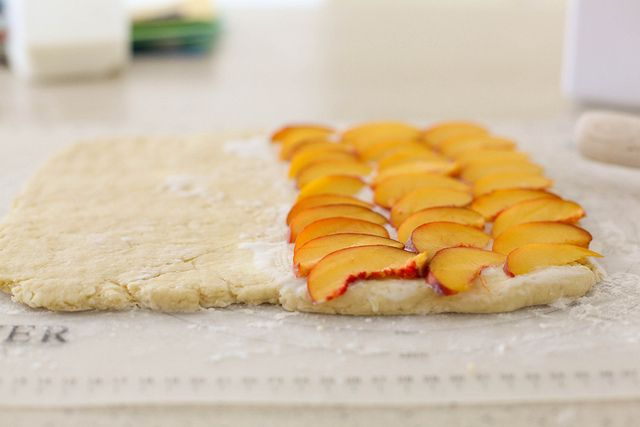 peach cobbler scones. now i know what to do with the 50lbs of peaches ...