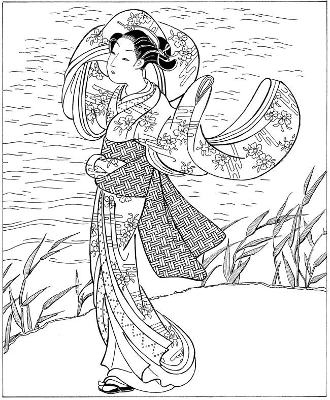 japanese coloring pages for adults - photo#18