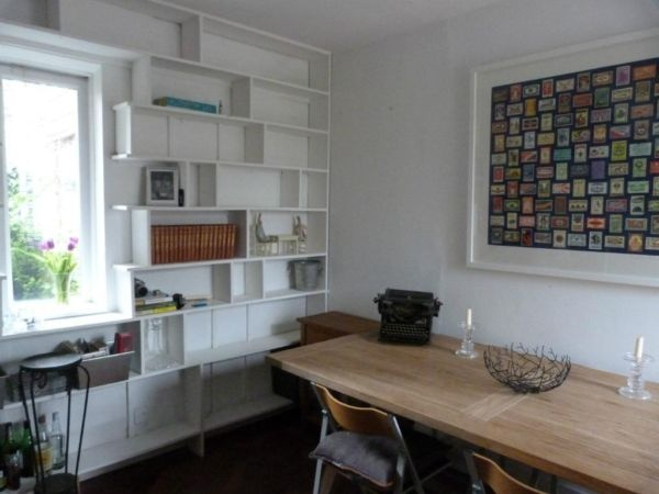 Simple Builtin Bookshelves With Desk Around Window Could Be A Good Place To