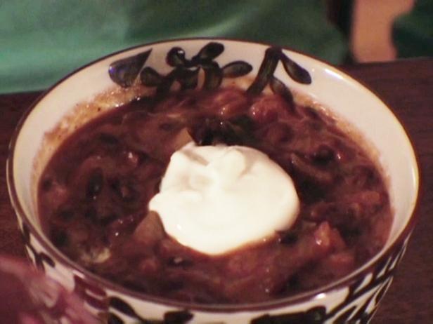 Black Bean Soup - use turkey bacon