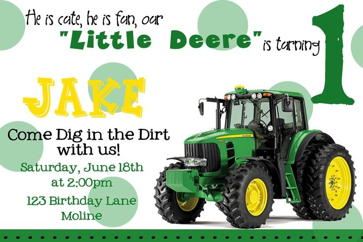 Tractor Invitations as luxury invitations design