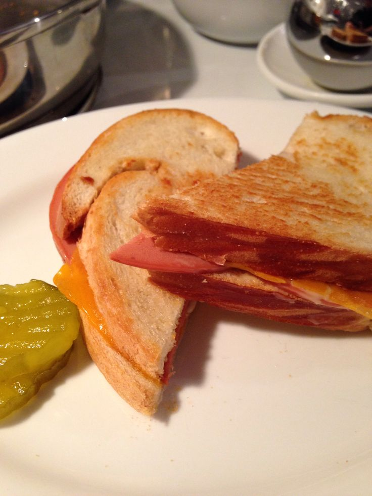 "vegetarian grilled ""ham"" and cheese: lightly butter one side of 2 ..."