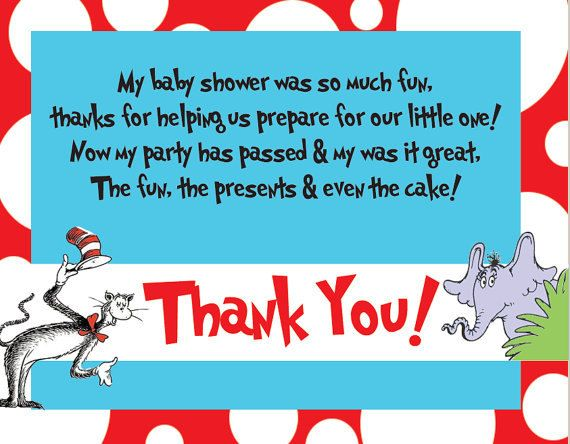 baby shower thank you cards what to write