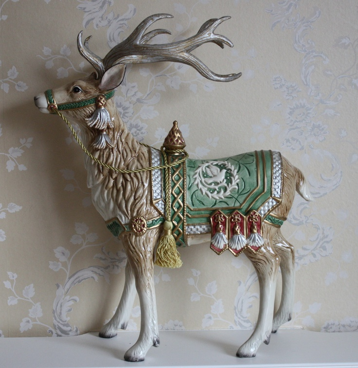 Large China reindeer | Christmas at Holly House | Pinterest