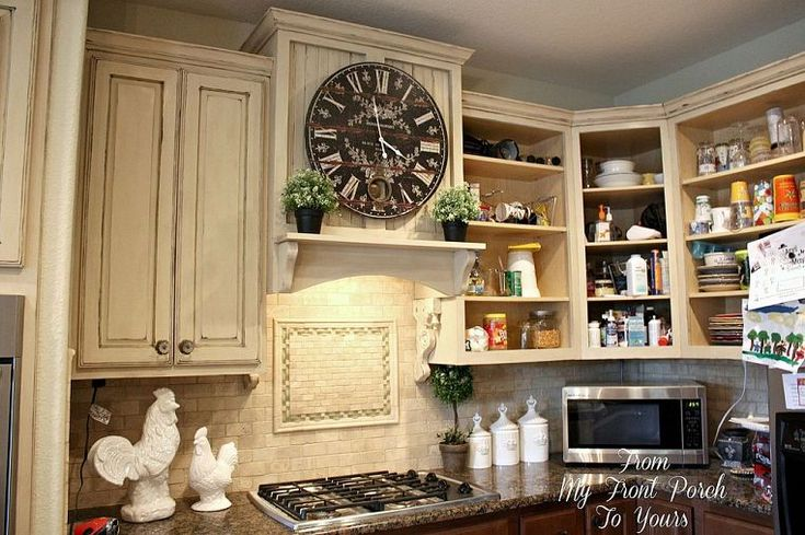 DIY Creating A French Country Kitchen Cabinet Using Chalk Paint