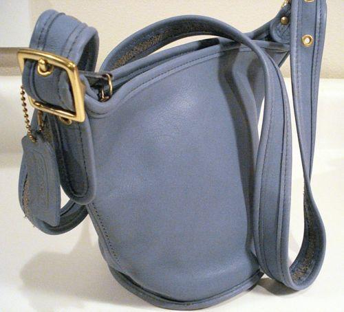 Coach Light Blue Bucket Bag | eBay