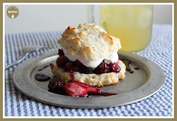 Roasted Berry Shortcake | Girl, Put Your Kitchen to Work! | Pinterest