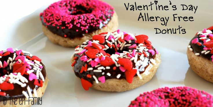 Valentine's Day Allergy-Free Donuts | Logan Allergy | Pinterest