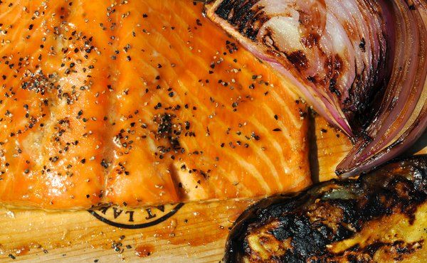Cedar Planked Salmon with Sweet Soy Basting Sauce in Recipes on The ...