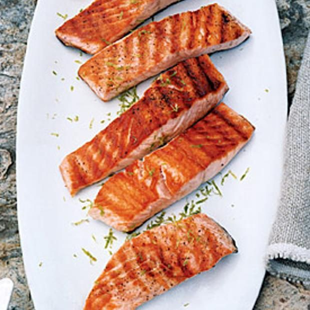 Grilled Salmon With Lime Butter Sauce | Fish Recipes | Pinterest