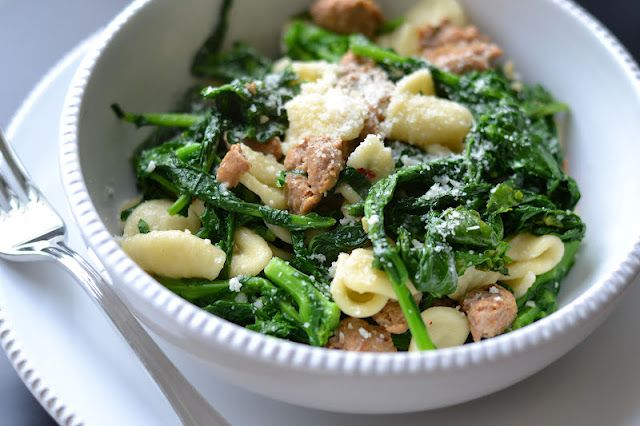 Type A Kitchen: Orecchiette with Sausage and Broccoli Rabe. did I ...